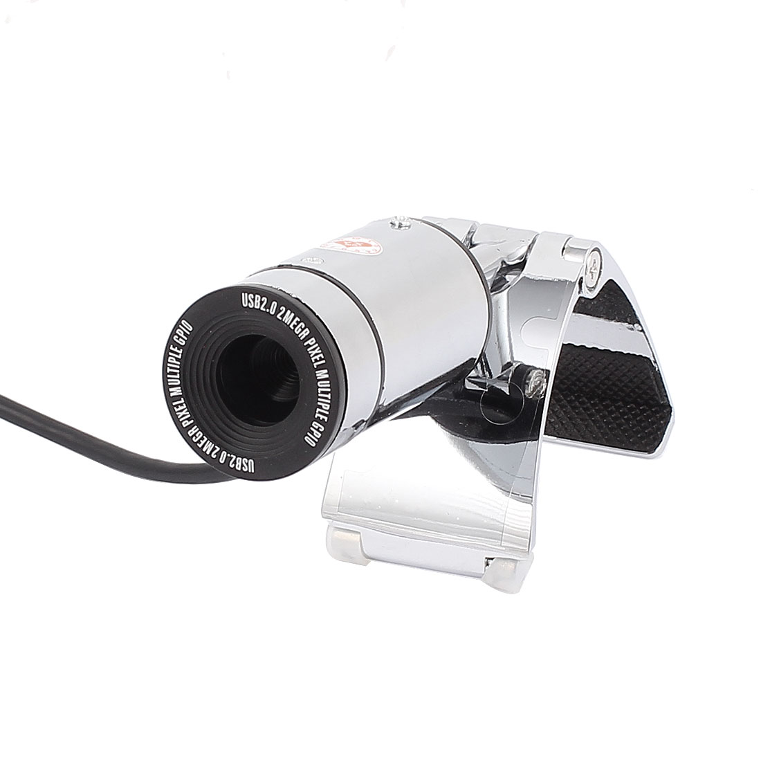 Silver Tone Black 2 Mega Pixels USB PC Camera Webcam for Laptop Desktop