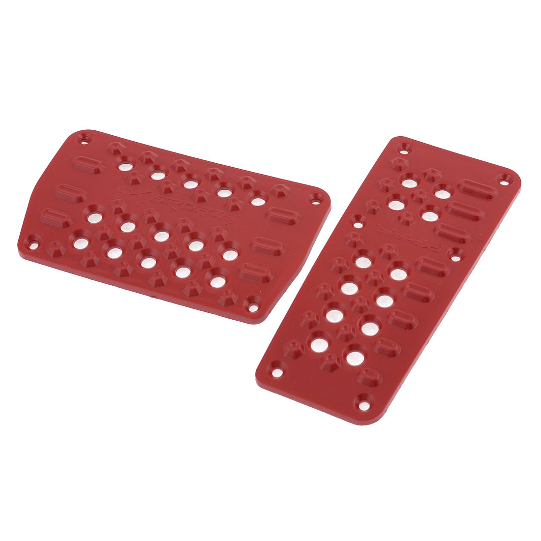 Red Non-Slip Universal Car Vehicle Gas Pedal Brake Pad Covers Set