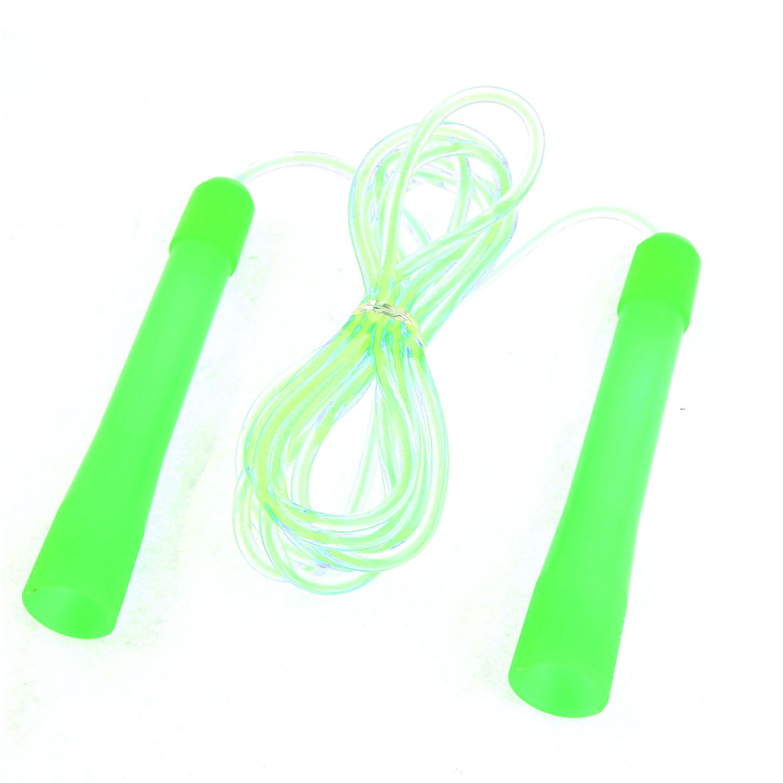 "5.4"" Length Plastic Handle Soft Green Luminous Skipping Jumping Rope Cord"