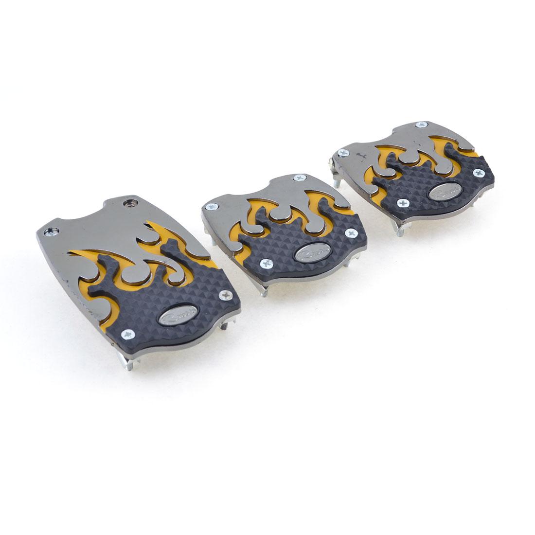 Multicolor Universal MT Car Nonslip Aluminum Gas Brake Clutch Pedal Cover Set