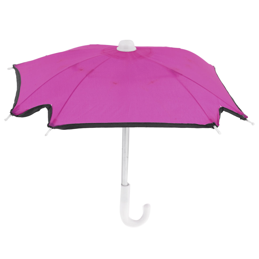 Child Plastic Handle Folding Mini Umbrella Toy Fushsia