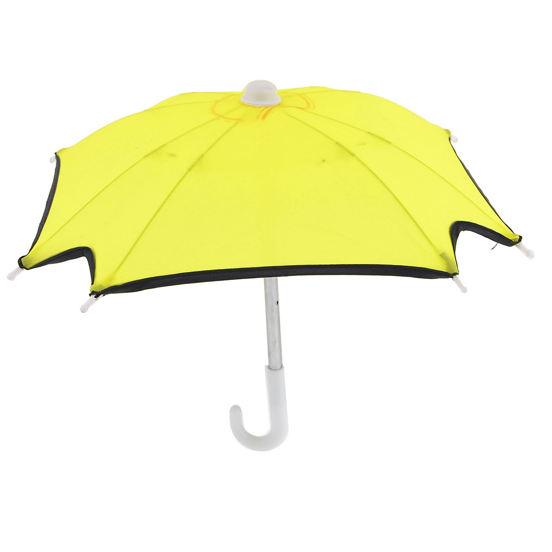 Mini Yellow Nylon Cap White Plastic Foldable Children Umbrella Toy