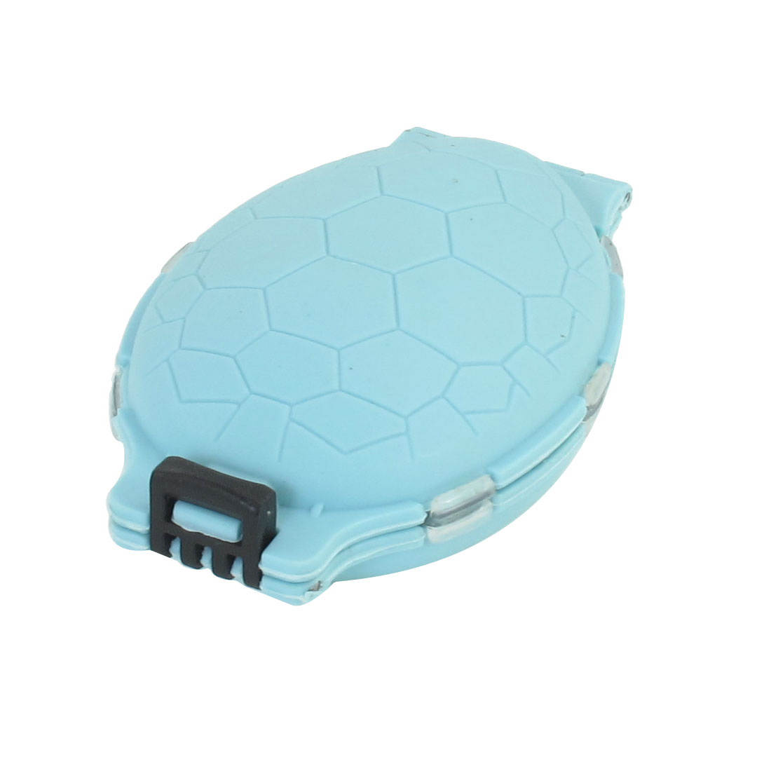 Plastic Tortoise Shell Design Double Sides Fishing Hook Box Case Baby Blue