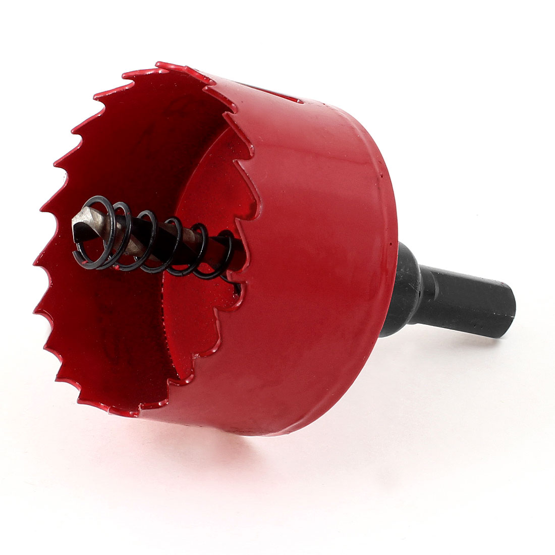 Red Black Twist Drilling Bit 53mm Diameter High Speed Steel Hole Saw Holesaw
