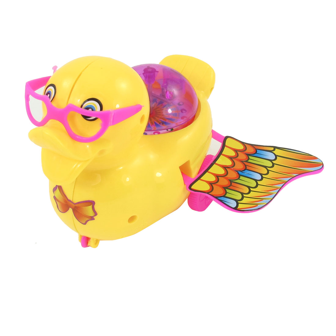 Kid Red Flashinglight Digging Pull String Moving Duck Model Toy Yellow Pink