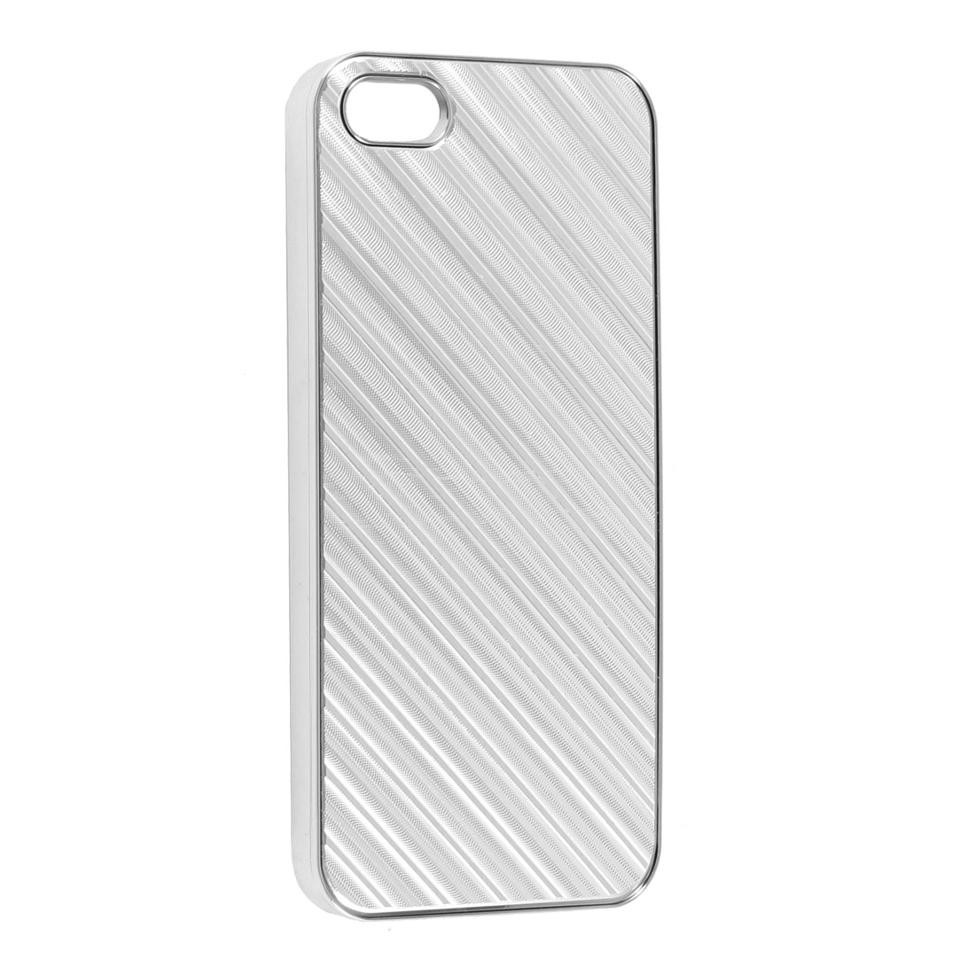 Silver Tone Plastic Hard Protective Back Case Cover for Apple iPhone 5 5G