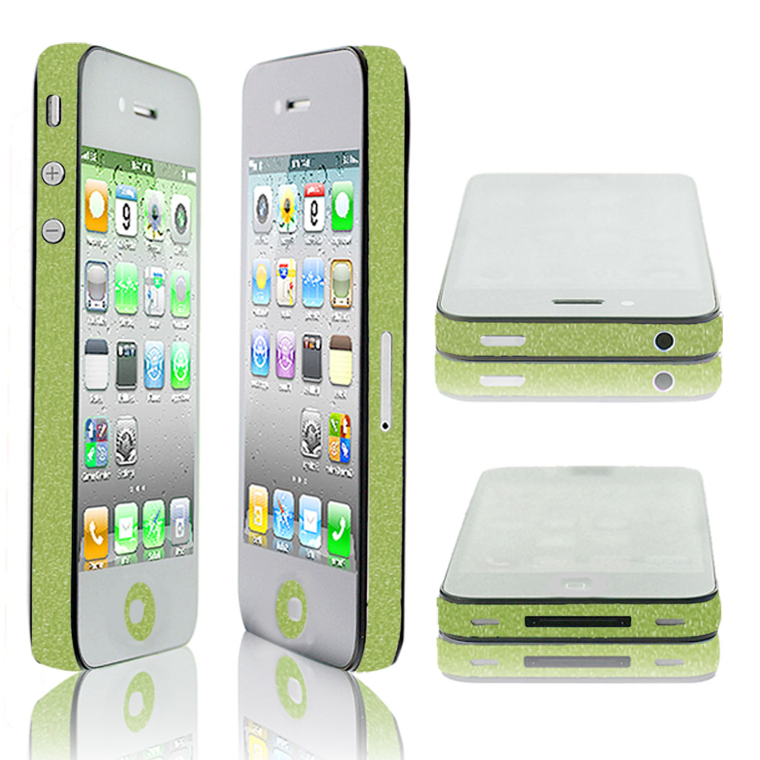 DIY Green Vinyl Side Edge Wrap Decal Film Sticker for iPhone 4 4G 4S 4GS