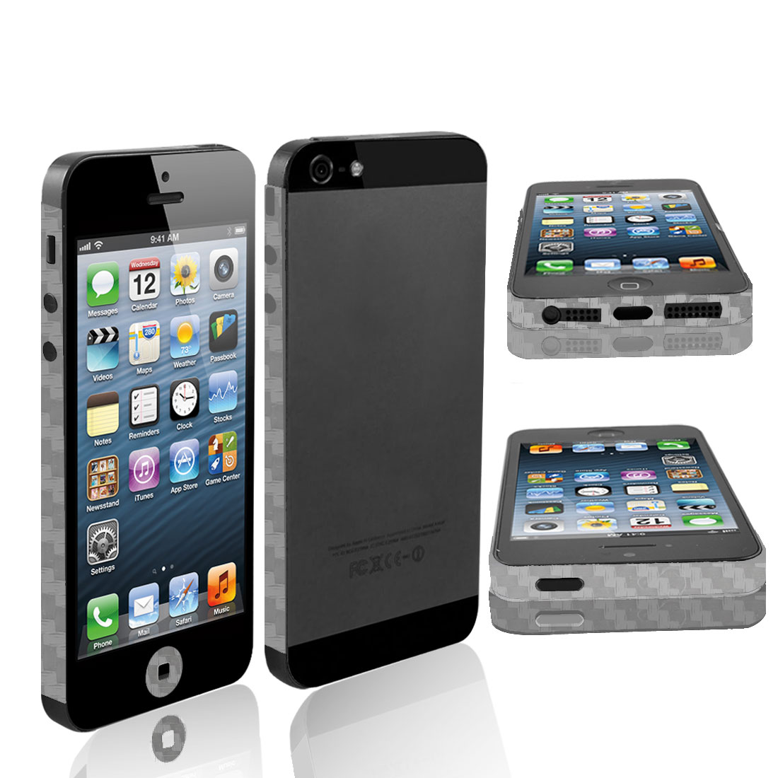 Clear Vinyl Edge Wrap Decal Button Sticker Cover for iPhone 5 5G 5th