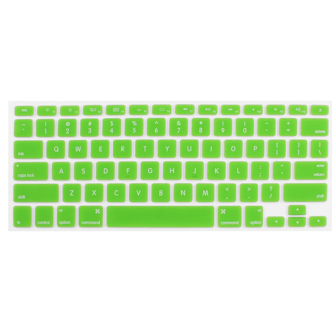 Grass Green Silicone Notebook Laptop Keyboard Film Cover Skin for MacBook 13.3""