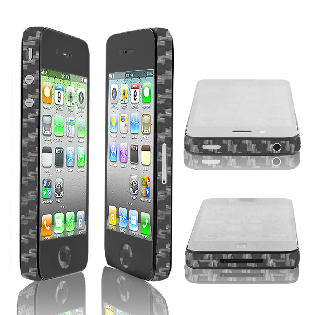 Clear Vinyl Frame Edge Wrap Sticker Decal Decor for Apple iPhone 4 4S 4G 4GS