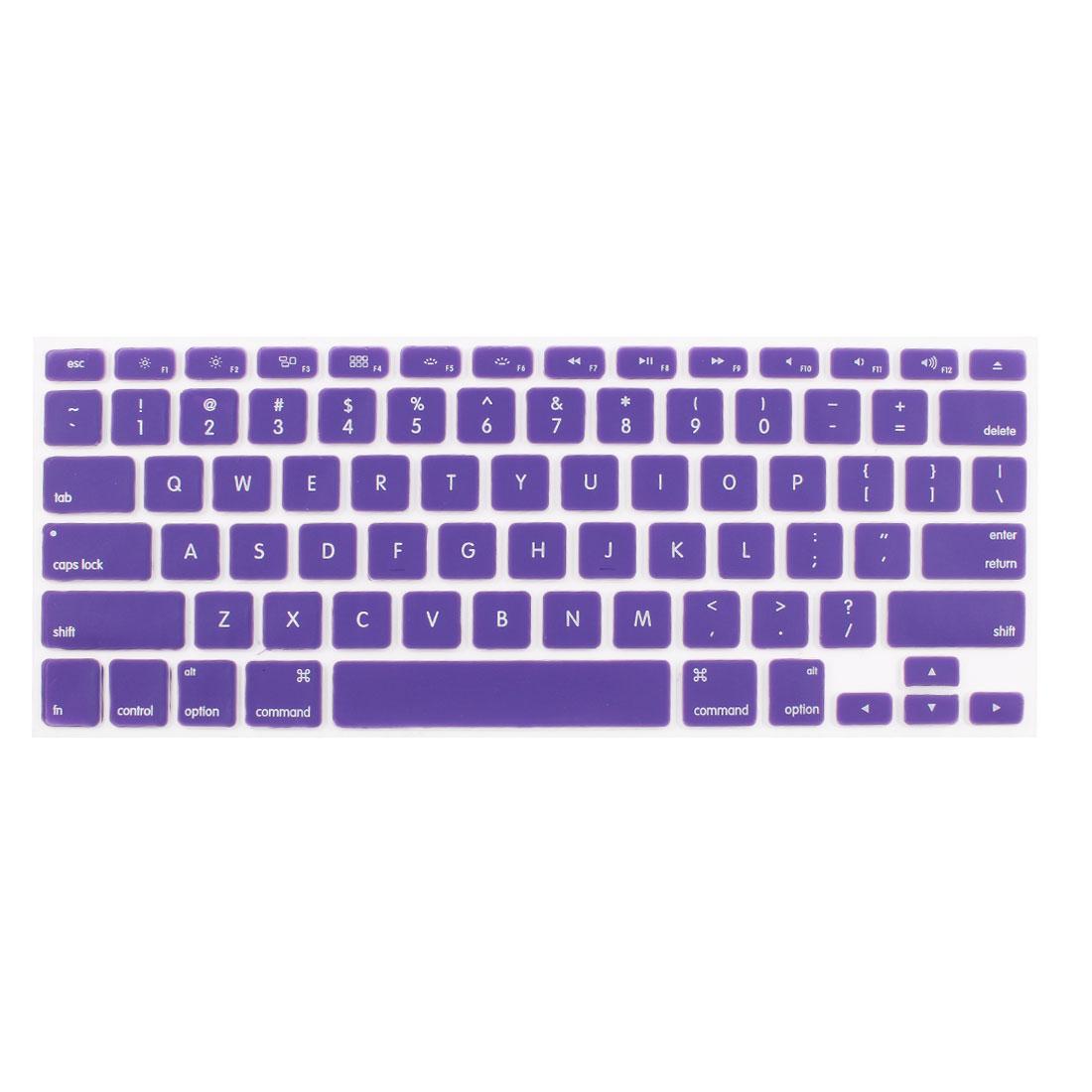 "Purple Skin Cover Protector Guard Laptop Keyboard Film for MacBook 13.3"""