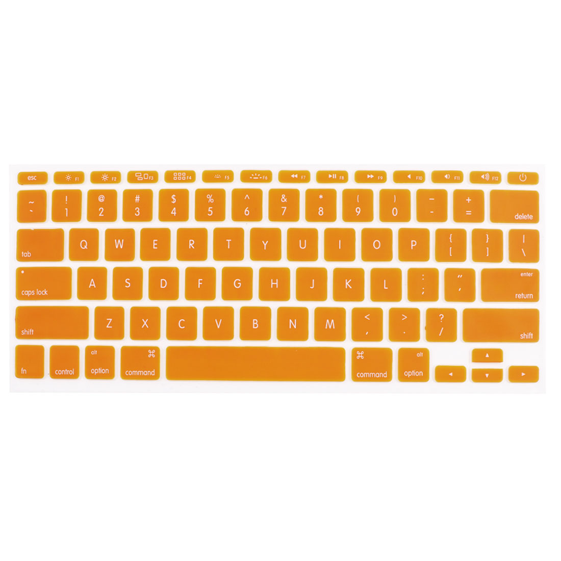 Orange Skin Cover Protector Guard Laptop Keyboard Film for Apple MacBook Air 11.6""