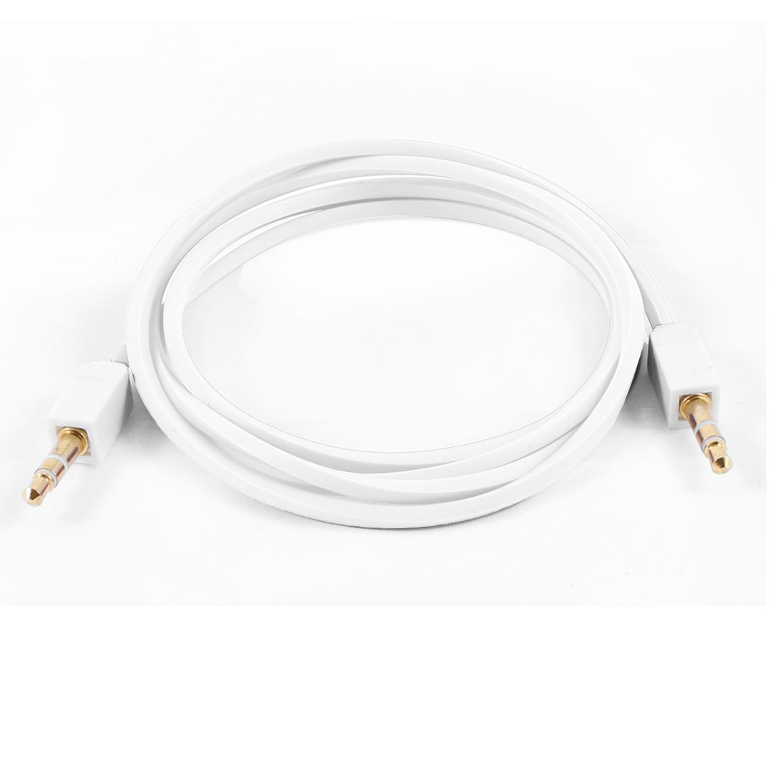 PC MP3 Adapter M/M 3.5mm to 3.5mm Square Audio Extension Cable 3.3ft White
