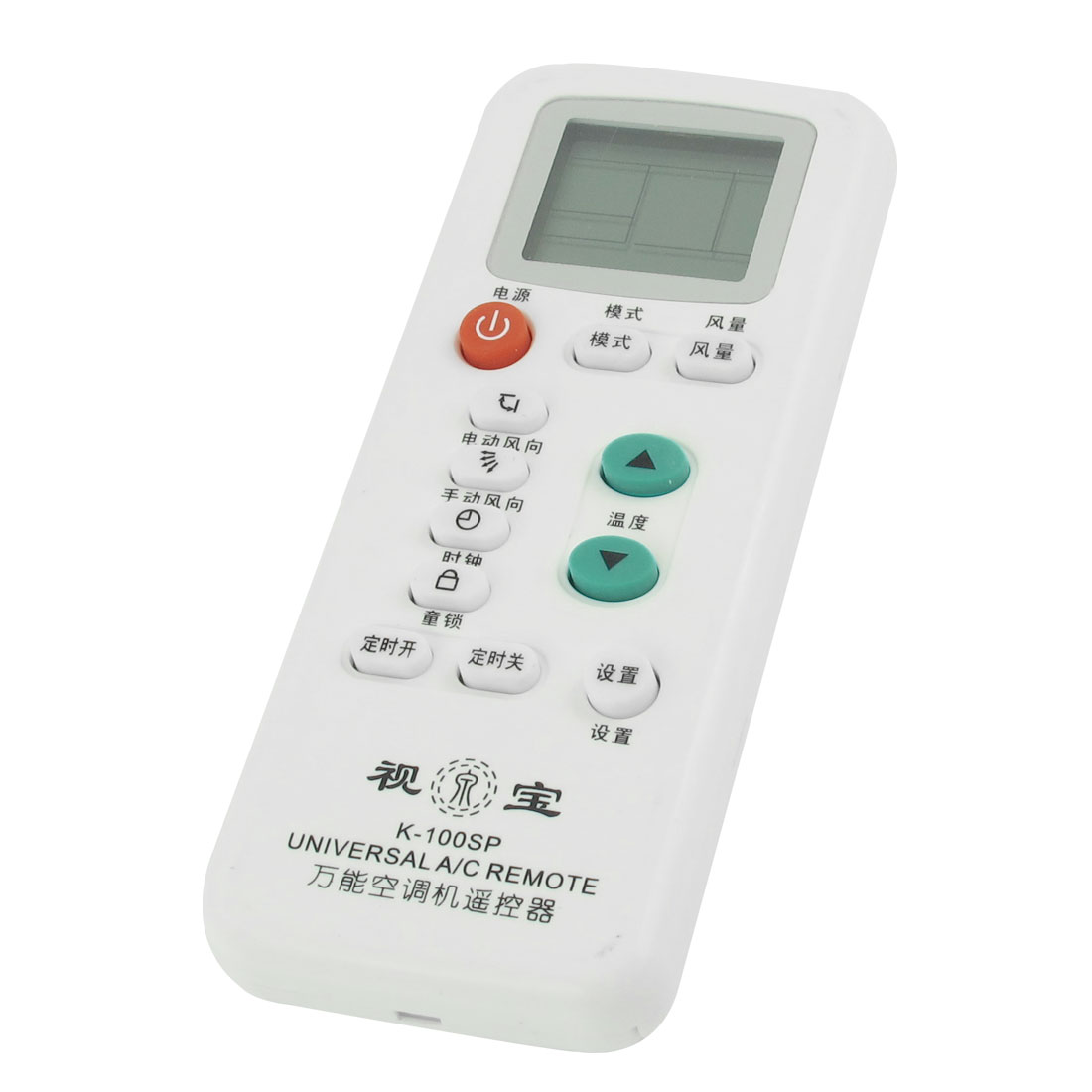 White Plastic Air Conditioner Universal A/C Remote Controller