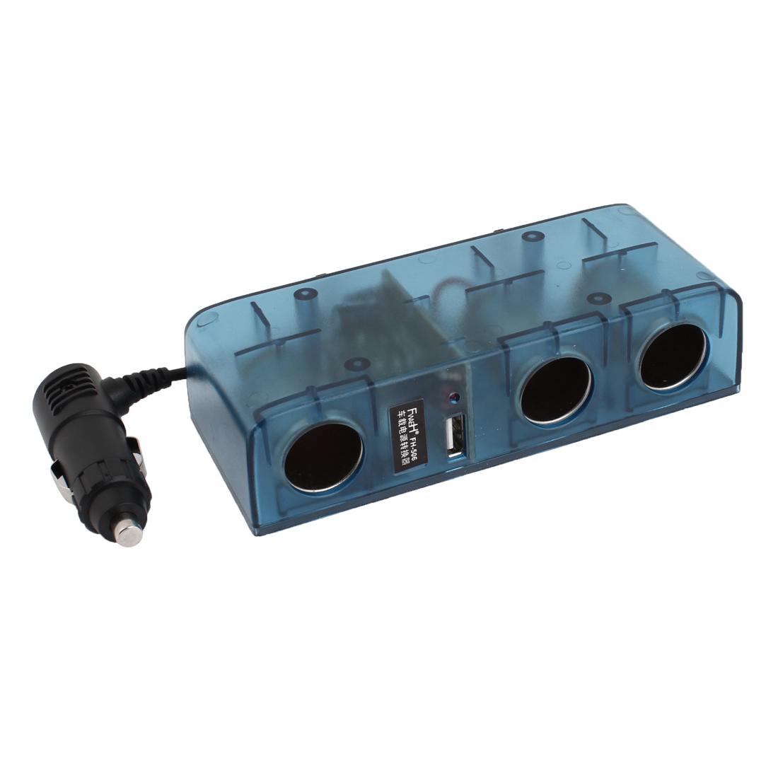 Clear Blue Shell DC 24V to 12V Car Power Supply Transformer Converter