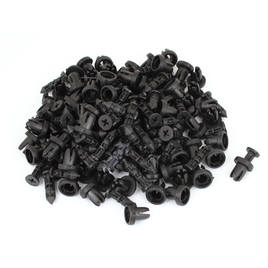 100 Pcs Vehicle 9mm Hole Black Door Plastic Replacement Rivets Fasteners