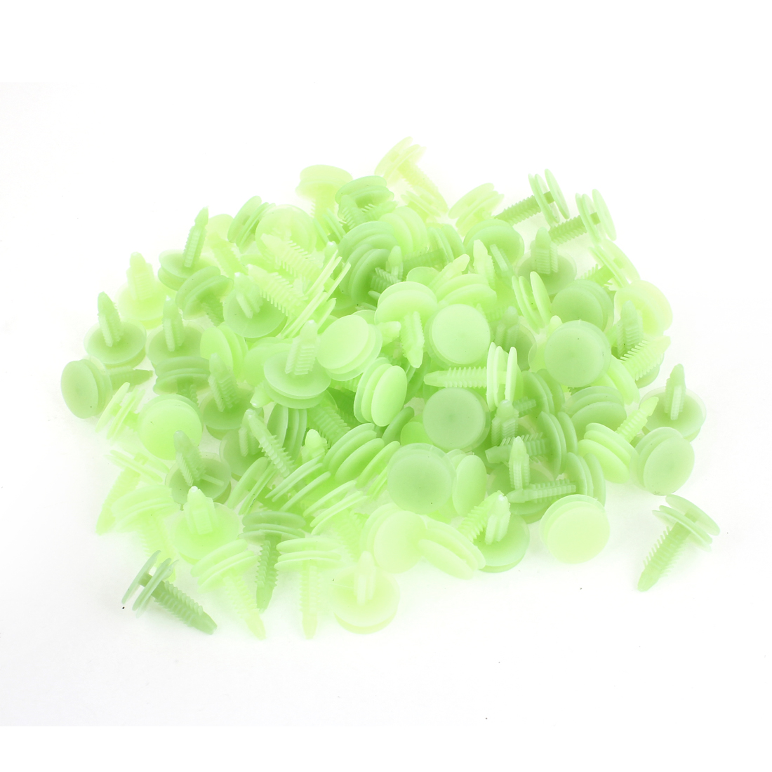 Auto Car Green 8mm Hole Door Fender Plastic Rivets Screw Fasteners 100pcs