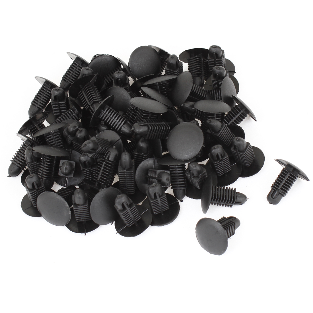 "Vehicle Black 0.33"" Hole Door Fender Plastic Rivets Screw Fasteners 100pcs"