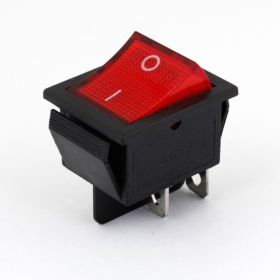 Car AC 16A/250V 20A/125V LED Light 4 Pin 2 Positions ON/OFF Rocker Switch