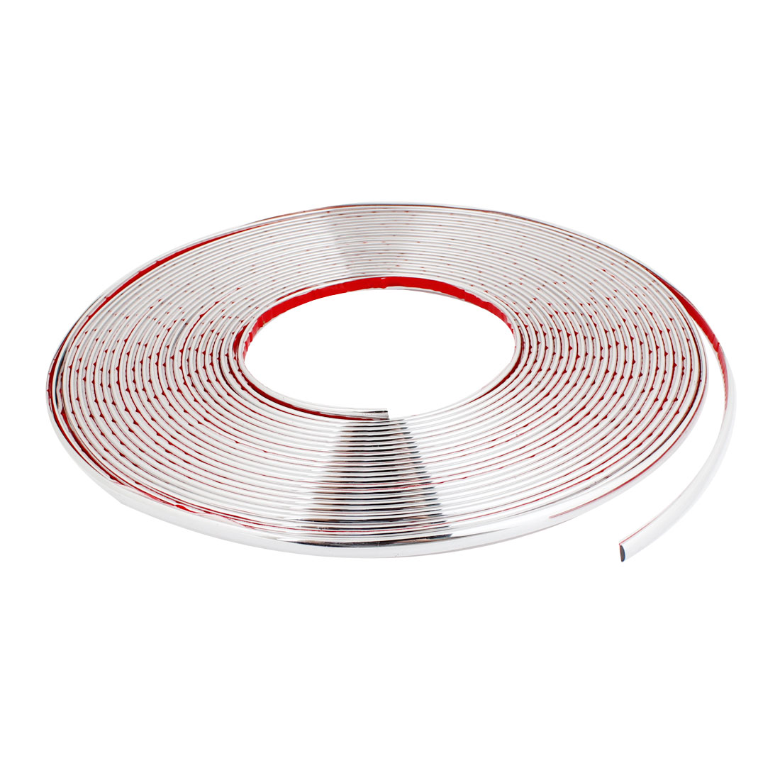 Car Silver Tone 7mm Width 15m Long Flexible Soft Plastic Bumper Decorative Strip