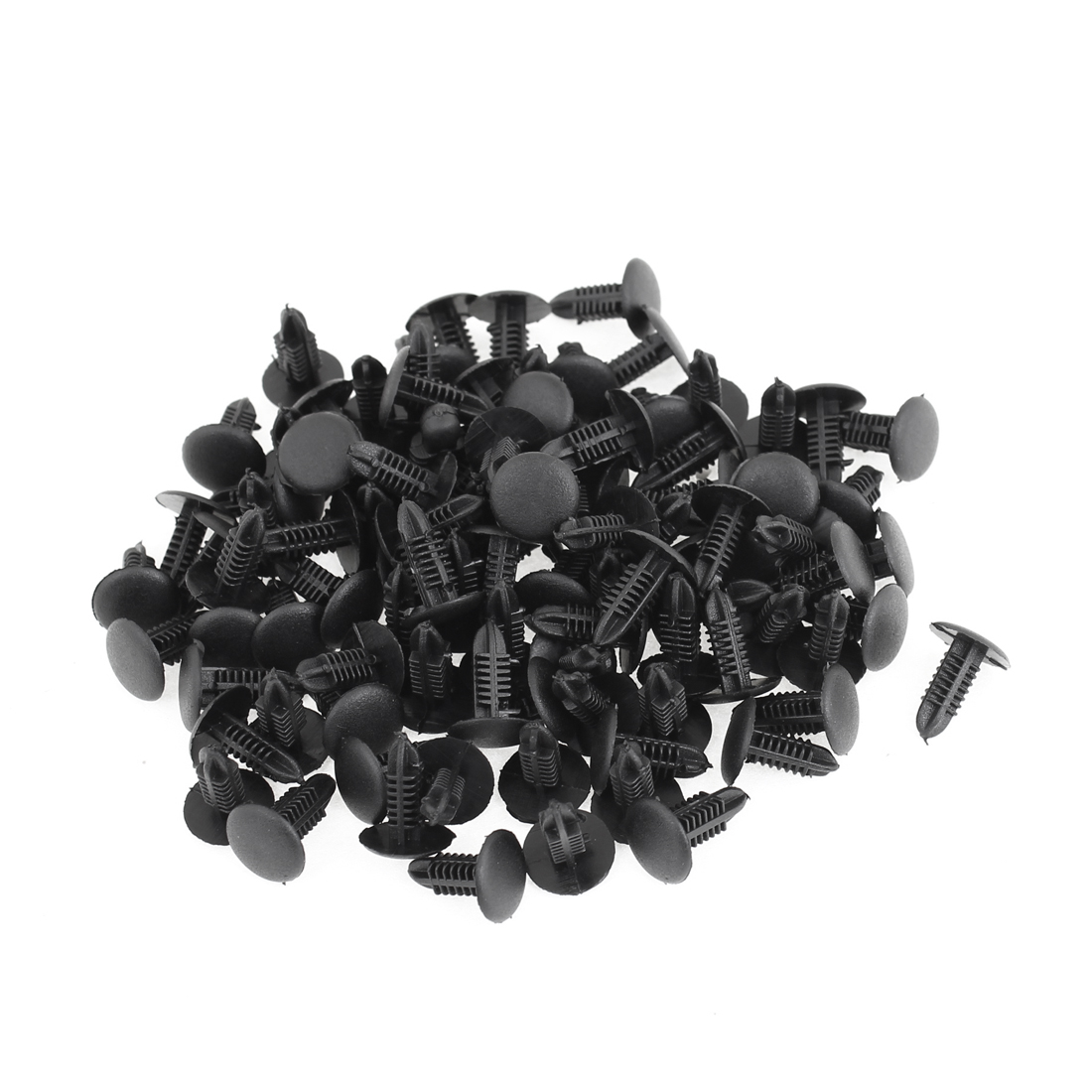 Vehicle Black 5.2mm Hole Door Fender Plastic Rivets Screw Fasteners 100pcs