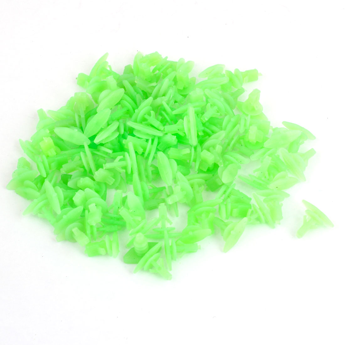 100 Pcs Vehicle 14.5mm Hole Green Door Plastic Replacement Rivets Fasteners