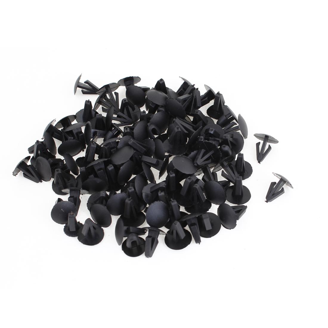 100pcs Vehicle 8.8mm Hole Black Door Plastic Replacement Rivets Fasteners