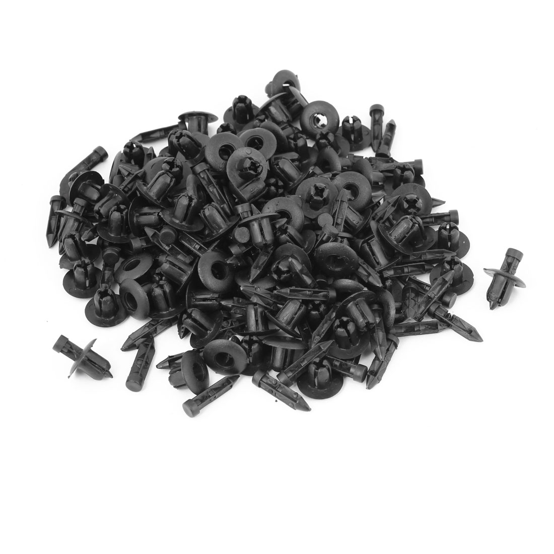 100 Pcs Auto Car Door Fender 7mm Hole Plastic Trim Boot Rivets Push Clip