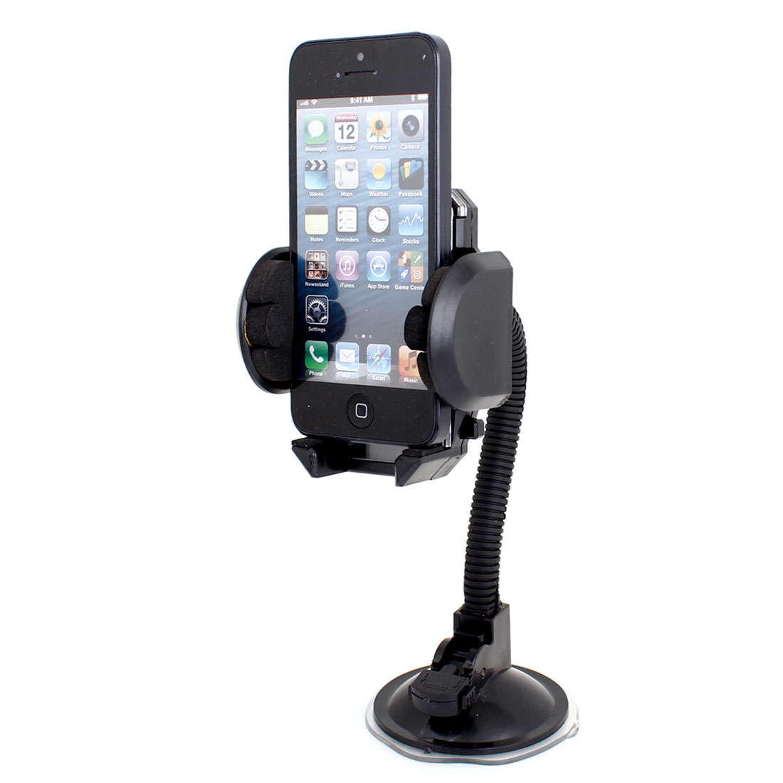 Vehicle Windscreen Mount Suction Cup Base Mobile Phone Holder w Air Ven Clip