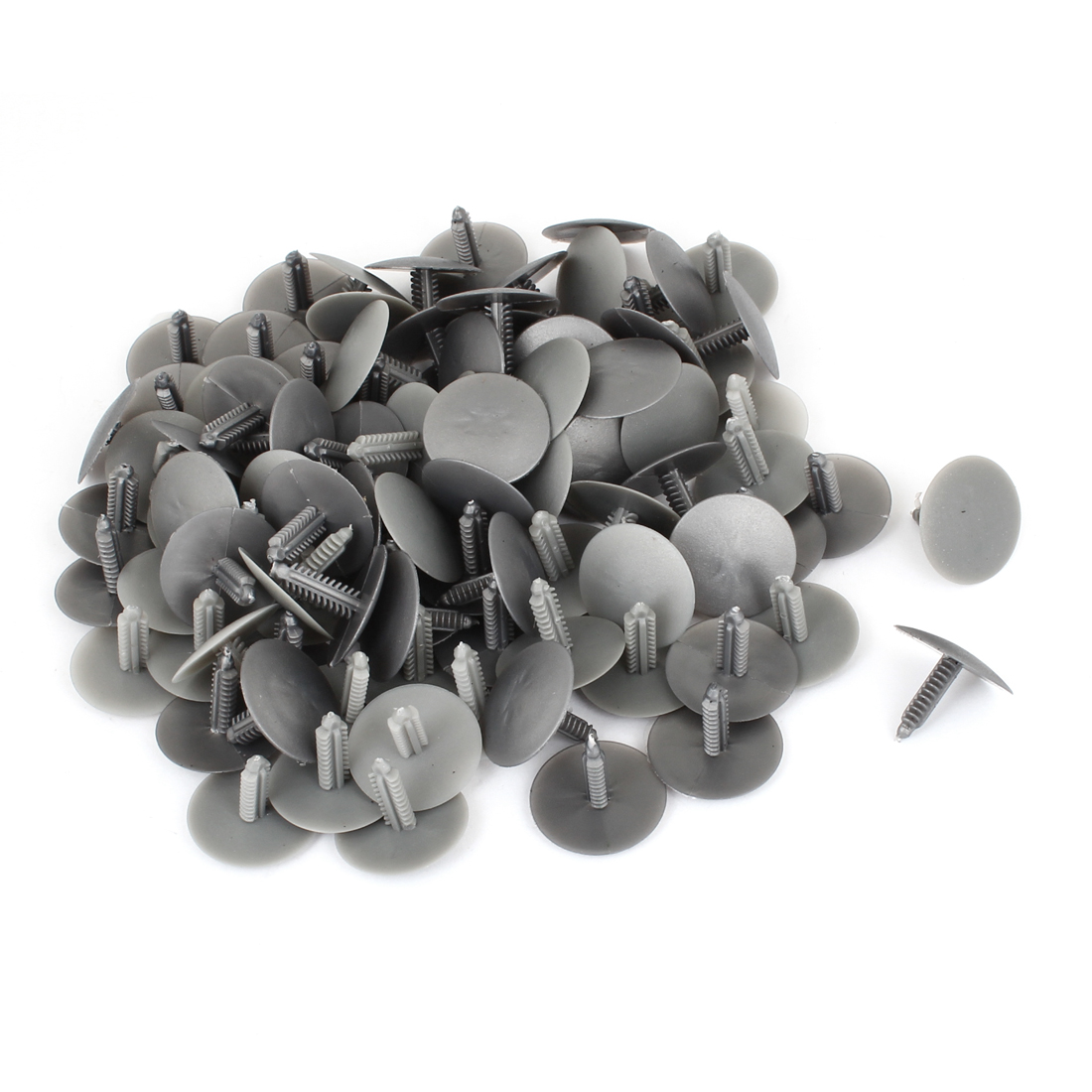 100 Pcs Vehicle 6mm Hole Gray Door Plastic Replacement Rivets Fasteners