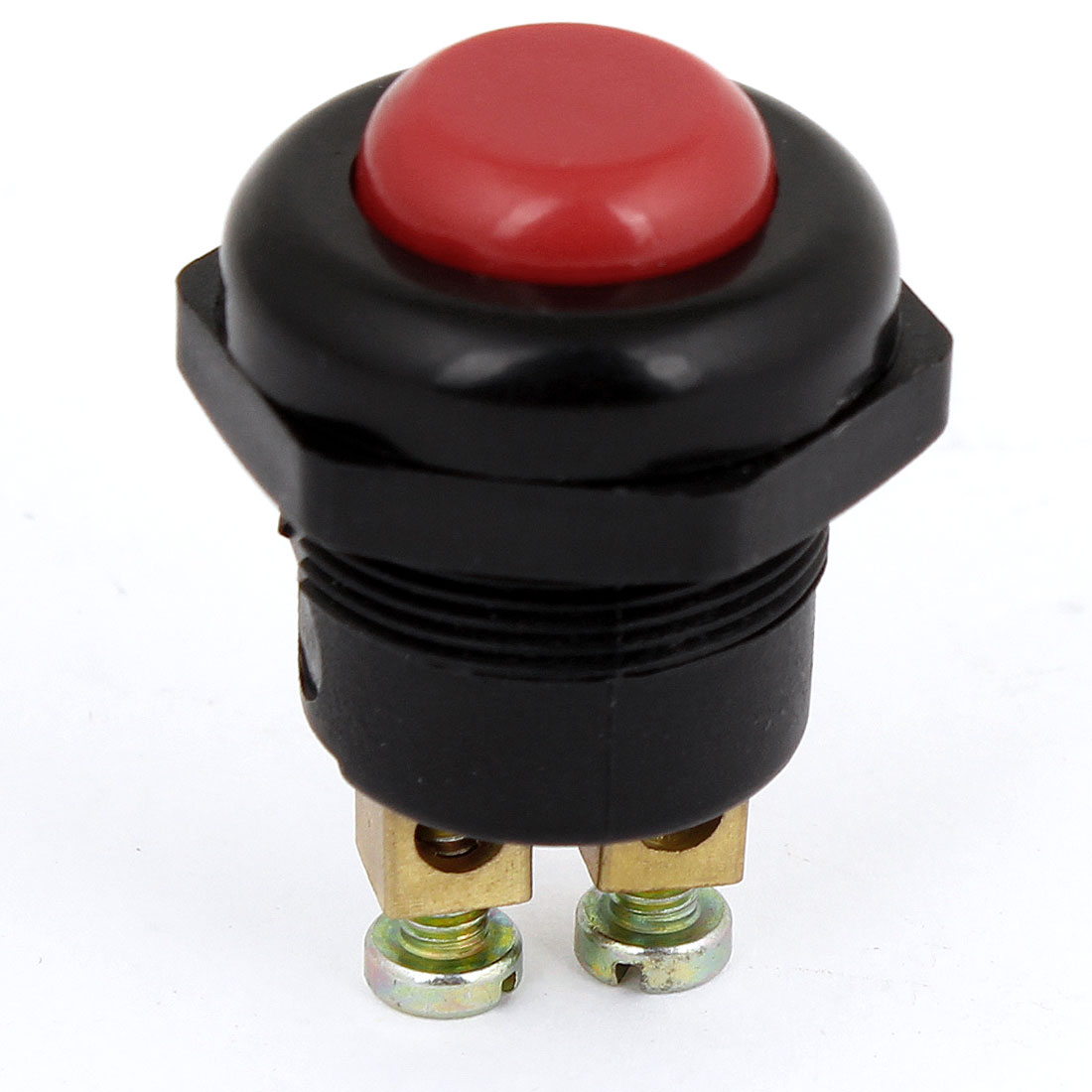 Auto Car 12V DC 2 Pin Red Round Shaped Momentary Press Button Switch