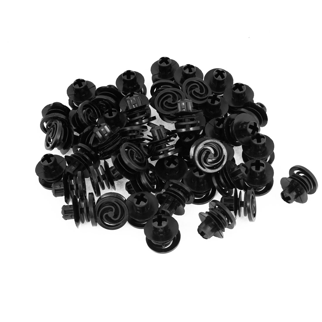 100 Pcs Vehicle 10.5mm Hole Black Door Plastic Replacement Rivets Fasteners