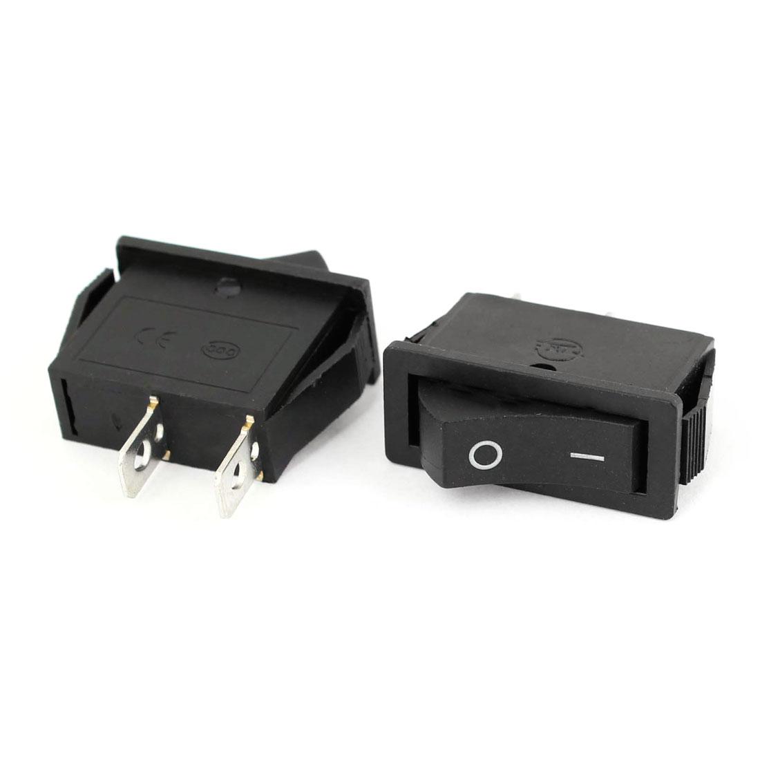 2 Pcs Auto Car AC 15A/250V 20A/125V 2 Pin 2 Position ON/OFF Rocker Switch KCD3