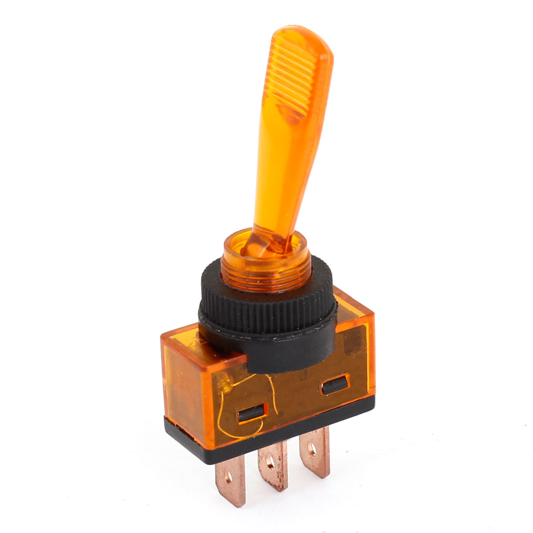 Racing Car Auto On/Off 2 Position Toggle Switch DC12V Clear Orange