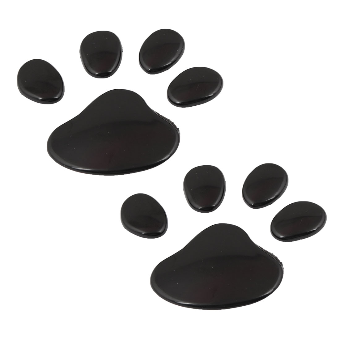 2 Pcs Black Dog Footprint Badge Emblems Sticker for Vehicle Car