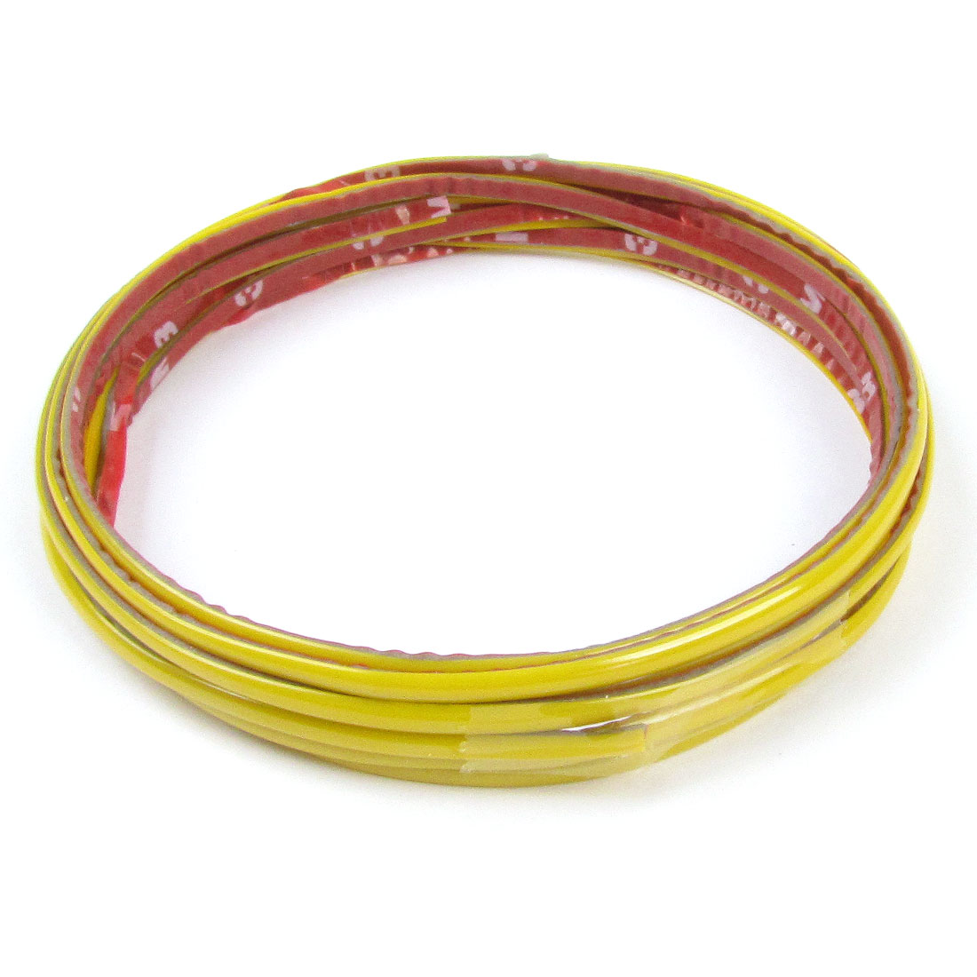 Yellow 4mm x 5M Length Soft Plastic Vehicle Car Panel Moulding Trim Strip