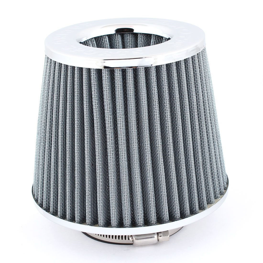 "Truck Car Stainless Steel Mesh Gray Air Flow Filter 76mm 3"" Inner Dia"