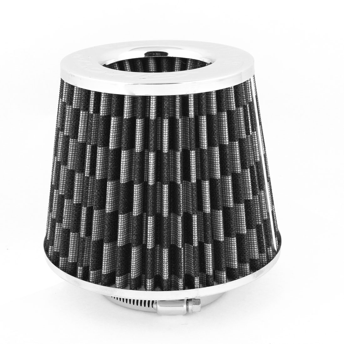 "Vehicle SUV Car 3"" 76mm Inner Dia Black White Engine Intake Air Filter"