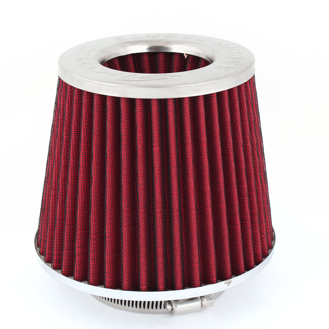 "Van Truck SUV Universal 3"" 76mm Dia Air Intake Filter Red"