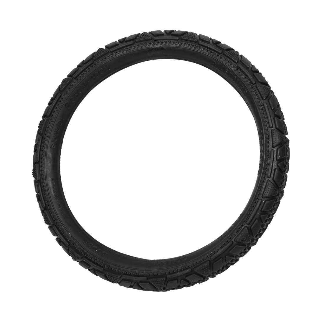 36cm-40cm Dia Nonslip Black Elastomer Steering Wheel Cover for Car Truck