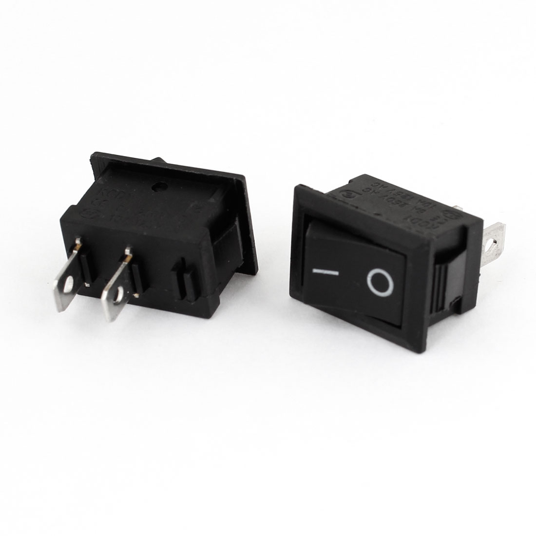 2 Pcs Auto Car AC 6A/250V 10A/125V 2 Pin 2 Position ON/OFF Rocker Switch KCD1
