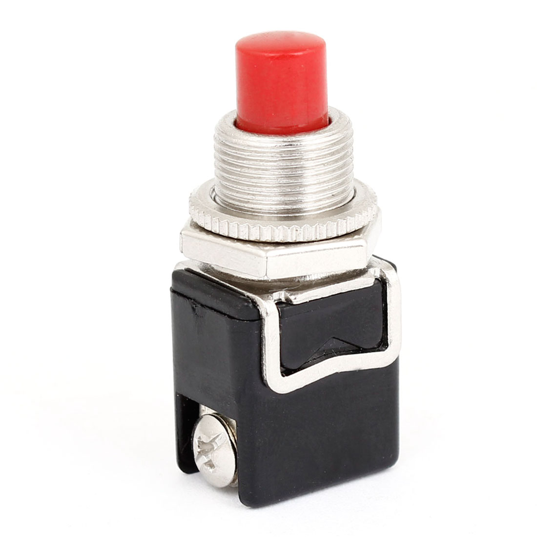 Auro Car 250V AC 3A 2 Pin Red Round Shaped Momentary Press Button Switch