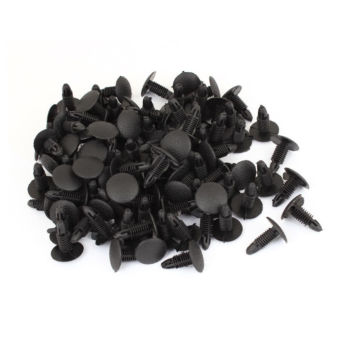 Auto Car Black 6.8mm Hole Door Fender Plastic Rivets Screw Fasteners 100pcs