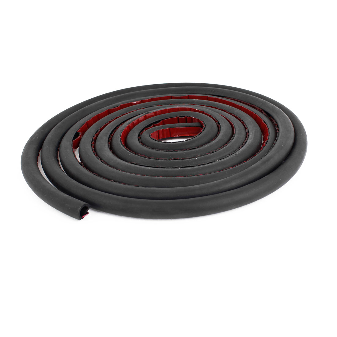 Auto Car Black D Shaped Rubber Hollow Air Sealed Seal Strip 9.8ft