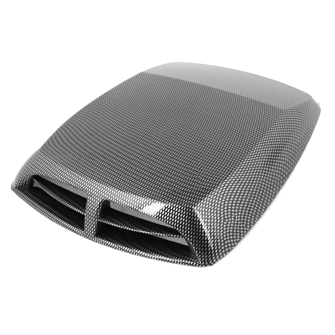 "13"" x 9.8"" Carbon Fiber Pattern Air Scoop Flow Sticker Port Hole Vent for Auto"