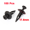 100pcs Vehicle 7.8mm Hole Black Door Plastic Replacement Rivets Fasteners
