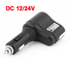 Car DC 12/24V USB Port 1 Socket Cigarette Lighter Power Charger Splitter Black