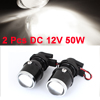 2 Pcs H3 50W DC 12V White Projector Lens Fog light for Car