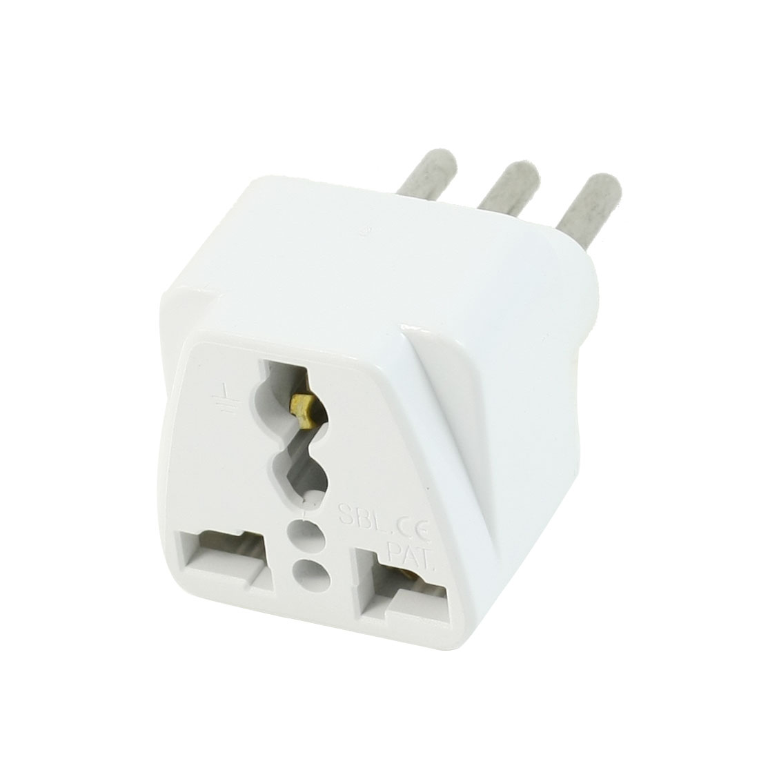 AC 250V 10A UK AU US Socket to Italian 3 Terminals Travel Plug Adapter Converter
