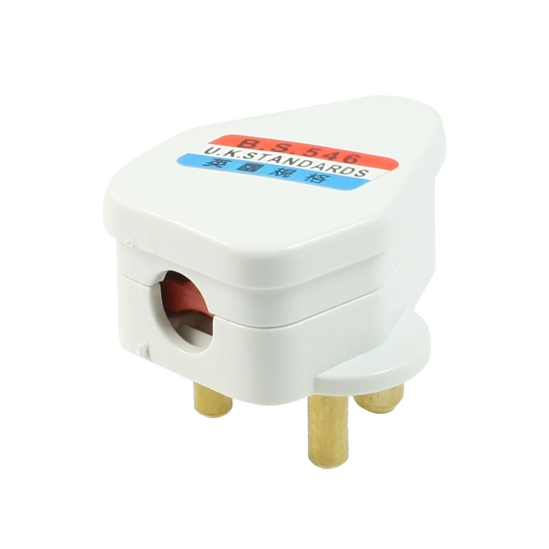 AC 250V 5A White Shell Small South Africa Wall Plug Power Adapter
